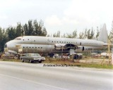 1970's - ex-USN Lockheed XR6O-1 (R6V-1) Constitution N7673C on NW 135th Street, Opa-locka