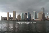 2008 - Brickell Key, the mouth of the Miami River and downtown Miami