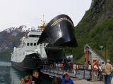 A Geiranger boarding car ferry    1484