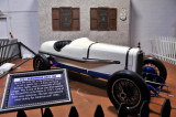 This 1921 Duesenberg race car was one of three that raced at Le Mans in 1921, one of which won.