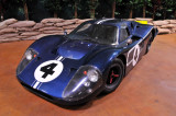 This 1967 Ford GT Mk. IV is a sister car of the Mk. IV that won the 1967 Le Mans 24-hour race.