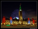 Parliament of Canada (Fireworks) Winter - New Years