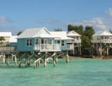 Stilt Homes Over Beautiful Turquoise Water