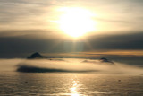 Midnightsun over the icefjord, Greenland