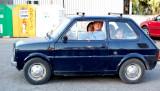 Italian family in Italian car