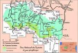 Guides Ollivier : Carte des régions décrites dans le Parc National des Pyrénées Occidentales