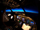 Sunset from the cockpit