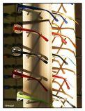 glasses display - south melbourne market