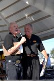 Dave Mc Clelland, Voice of the NHRA (left) and Barry McQuire (Right)