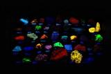 Gems and Minerals under fluorescent light