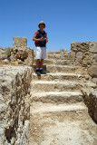 Chris at Pafos Archaeological Site