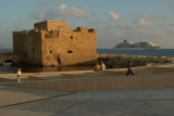 Pafos Fort  Cruise Ship 02