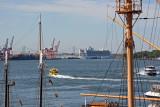 NYC Seaport - Verrazano Bridge, Cruise Ship in Brooklyn Port, Water Taxi, Circle Line, etc.