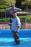 Cleaning the Fountain Pool