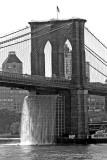 Brooklyn Bridge with Waterfall from Pier 17