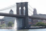Brooklyn Bridge with Waterfall from Pier 17