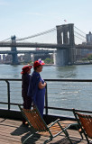 Red Hat Ladies Taking in the View at Pier 17