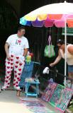 Clown near the Zoo Entrance