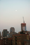 Sunrise & Full Moon - Downtown Manhattan