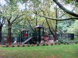 Children's Playground in the Rain