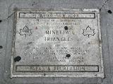 Minetta Triangle Garden Sidewalk Marker