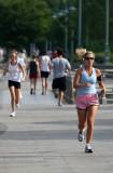Jogging near Christopher Street Pier