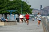 Jogging on Christopher Street Pier