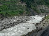 A narrow foot bridge on River Kunhar - P1280572.jpg