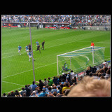 ... 92 m ... 3-1 gol ...toutching the net ...