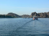 A motor boat ride to the Temple of Philea which was reconstructed to save it from the rising waters from the Aswan Dam