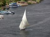 A felucca sailing on the Nile