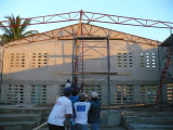 finally the roof truss is up, only how many more to go?