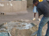 mixing cement mix