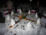 look at this table set up for the Monday night dinner