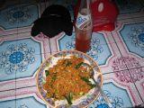 this was my meal, nasi goreng  (7,000Rp)