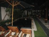 each villa has it's own private pool