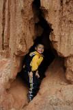 Isaiah Exploring a cave in Samaipata
