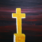 Cross Painted in Acrylics on Deep Edge Canvas