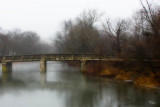 Crossing the rainy Maiden Creek
