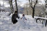 Fazendo boneco de neve no Cerro Bajo