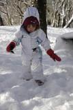 Andando na neve fofa