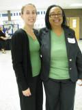 Smiling dressed-alike friends!