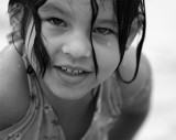 Erin at the pool black and white.jpg