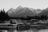 Colter Bay Marina at Sunset Black And White.jpg
