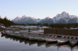 Colter Bay Marina at Sunset with Canoes.jpg