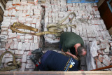 unloading 20 tons of bricks