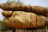 Hanuman's bed, pillow and bedsheet - natural rock formation, Mantralyam