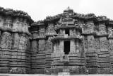 Outer walls of the Hoysaleswara temple, Halebidu