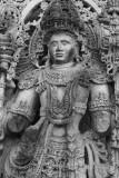 Intricate detail on warrior, Halebidu