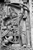 Arjuna sculpture in Halebidu